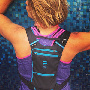 fitly innovative running pack woman back closeup