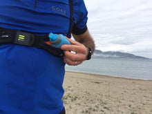Load image into Gallery viewer, FITLY innovative running pack emerald blue hydration flask