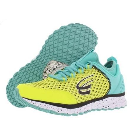 spira phoenix women's running shoe yellow teal black