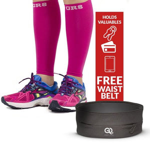go2 compression calf sleeve pink