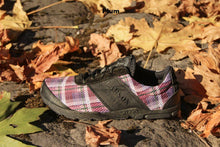 Load image into Gallery viewer, carson footwear tartan racer in plum
