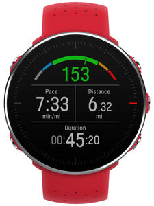polar vantage m gps running watch red heart rate