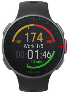 polar vantage v front black heart rate