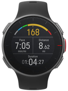 polar vantage v front black alternate heart rate