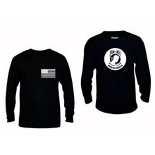 Load image into Gallery viewer, ruseen running pow-mia mens long sleeve american tee black