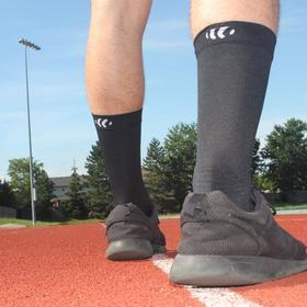 propriosox 2/4 anti-slip toe running sock track shot