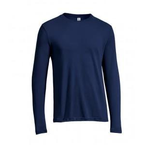expert men's long sleeve running training shirt army blue