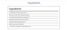 Load image into Gallery viewer, young living purification oil ingredients label