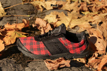 Load image into Gallery viewer, carson footwear tartan racer in red