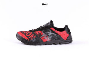 zombie racer performance trail shoe in red