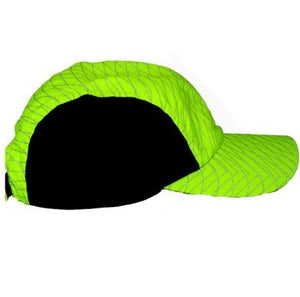 ruseen performance reflective running hat color pattern lime