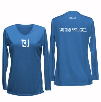 13.1 half crazy women's long sleeve blue