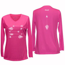 Load image into Gallery viewer, ruseen womens long sleeve performance arrows pink