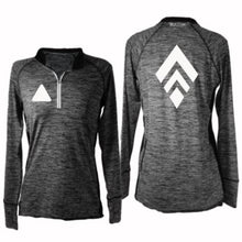 Load image into Gallery viewer, ruseen running women's long sleeve quarter zip broken diamond