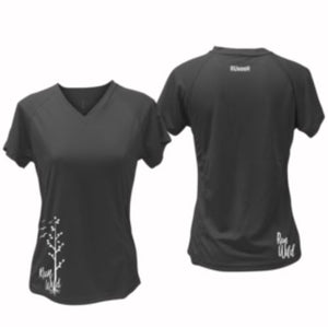 ruseen running Women's run wild reflective performance tee black