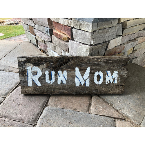 run mom reclaimed wood stencil art by run uncommon