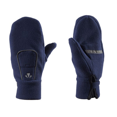 runlites fleece led lighted running mittens navy
