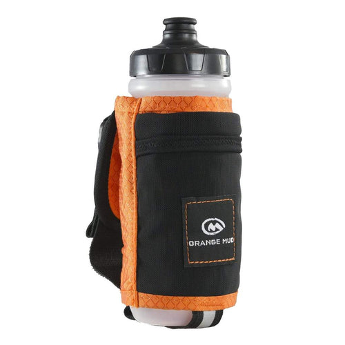 orange mud 21 oz handheld hydration bottle