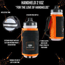 Load image into Gallery viewer, orange mud 21 oz handheld hydration bottle orange