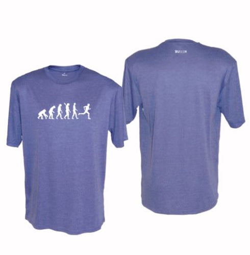 ruseen running evolution of a runner mens performance tee blue