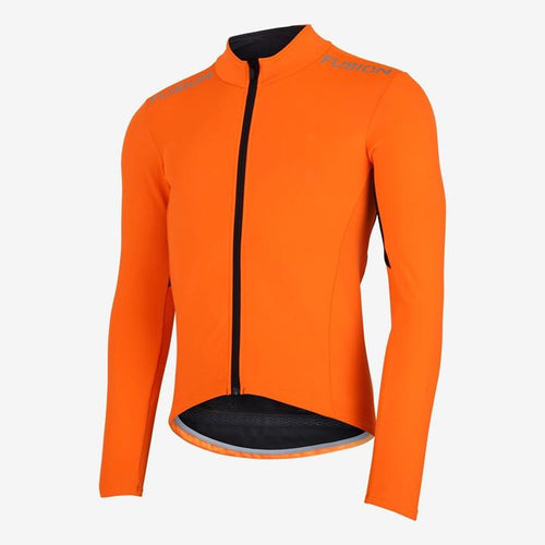 fusion s3 cycle jacket unisex orange front