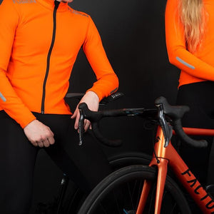 fusion s3 cycle jacket unisex man and woman posing