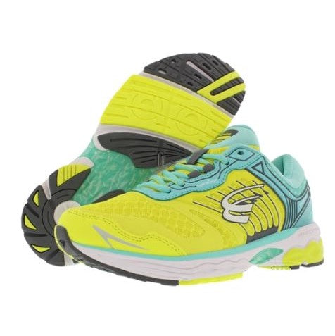 spira scorpius ii women's running shoe yellow / teal / white