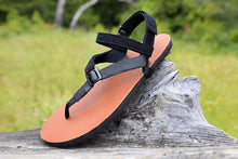 Load image into Gallery viewer, shamma sandals running zero drop running sandal resting on rock
