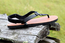 Load image into Gallery viewer, shamma sandals running tan sandal on driftwood log