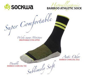 Bamboo Charcoal Crew Performance Sock 3-Pack Unisex