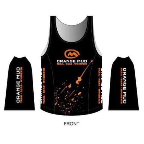 ORANGE MUD stretchy singlet