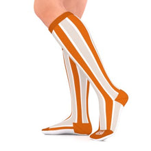 Load image into Gallery viewer, go2 running compression team sock orange and white