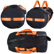 Load image into Gallery viewer, orange mud beast gear hauler black with orange straps
