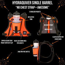 Load image into Gallery viewer, orange mud hydraquiver single barrel orange