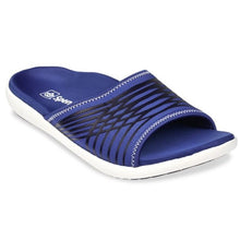 Load image into Gallery viewer, spenco mens thrust recovery slide true navy