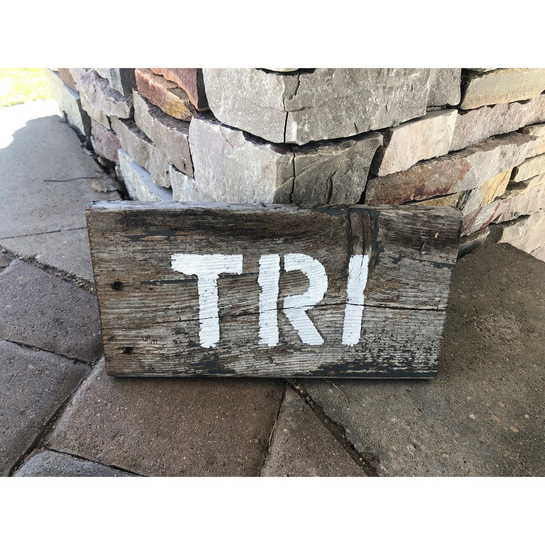 tri barnwood wall or desk art by run uncommon