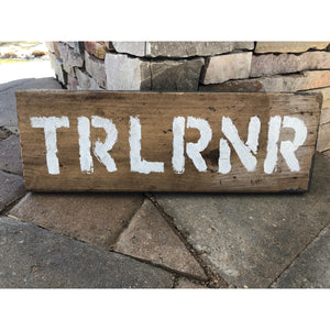 trail runner barn wood wall art