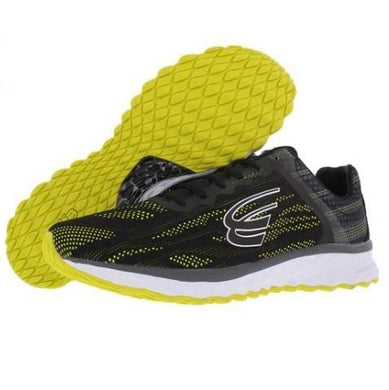spira vento men's running shoe black / neon / white