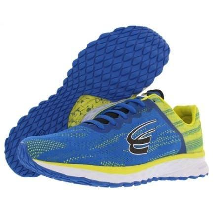 spira vento mens running shoe blue / yellow / black
