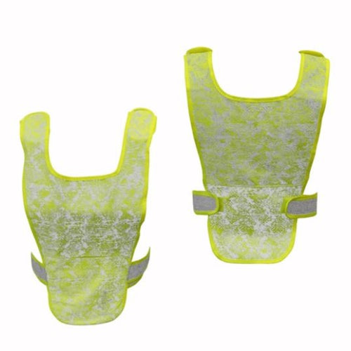 ruseen one size reflective running vest yellow