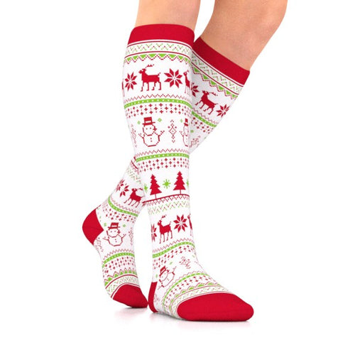 Holiday Sweater Compression Socks Unisex (15-20 mmHg)