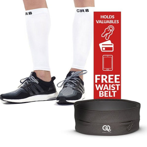 go2 compression calf sleeve white