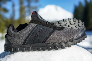 wool running shoe built for snow
