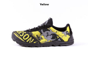 zombie racer performance trail shoe in yellow