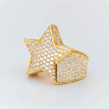 Load image into Gallery viewer, Classic Iced Out NameBran Star Ring