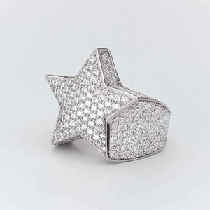 Classic Iced Out NameBran Star Ring