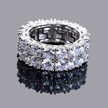 Load image into Gallery viewer, 2 Row Diamond Ring