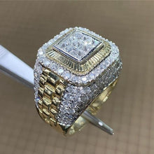 Load image into Gallery viewer, ICED Diamond & Gold Ring