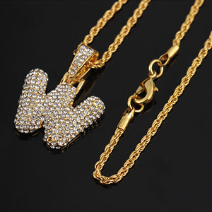 ANY Letter ICED OUT Bubble Pendant (Pick any letter you want!)