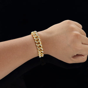 ICED OUT Cuban Bracelet (GOLD & WHITE GOLD COLOR!)